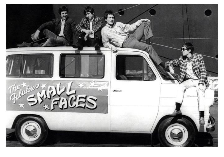 Small Faces, group portrait with van