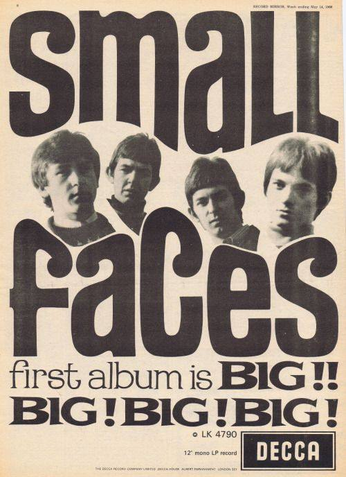 Small Faces first album poster