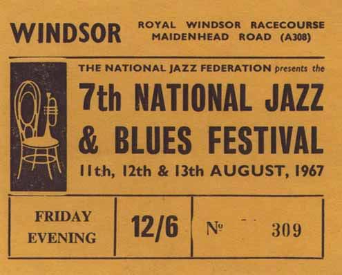 Windsor National Jazz & Blues Festival 1967 Ticket
