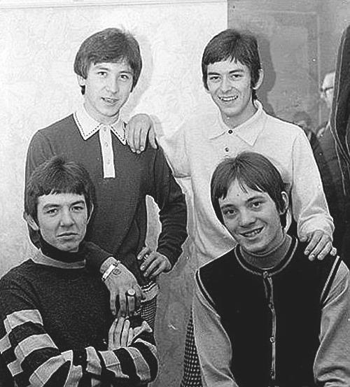 Small Faces group portrait in B&W