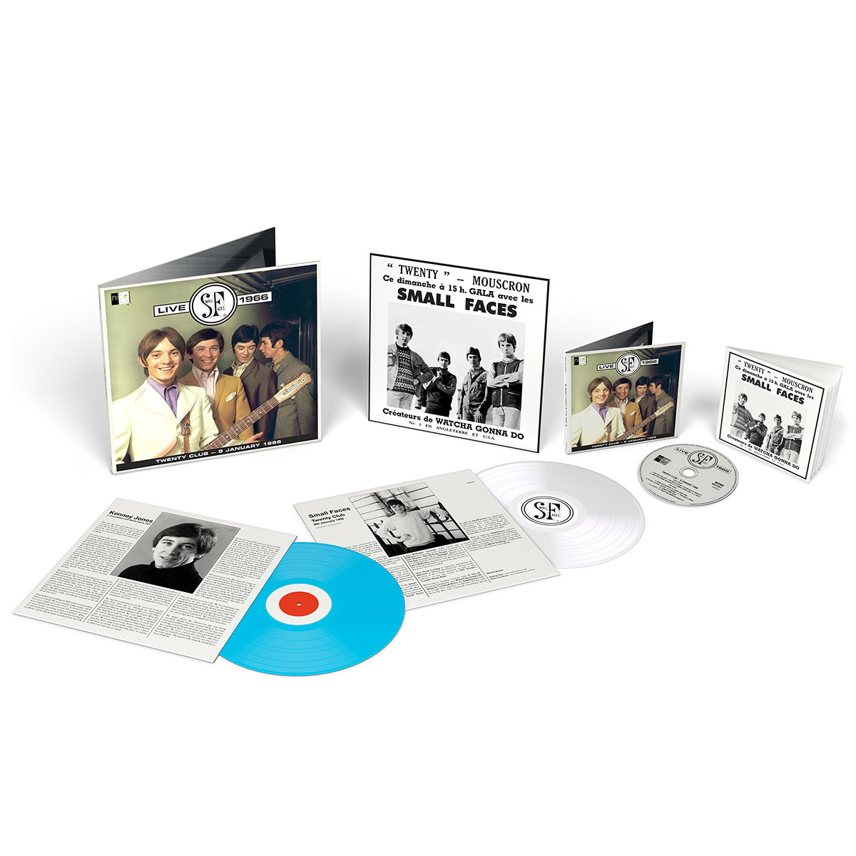 Small Faces Live 1966 - Coloured Vinyl and CD edition