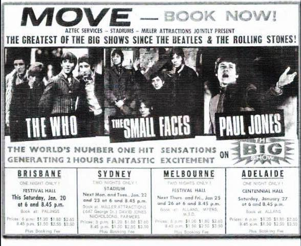 Small Faces Concert Poster - Poster for Australia