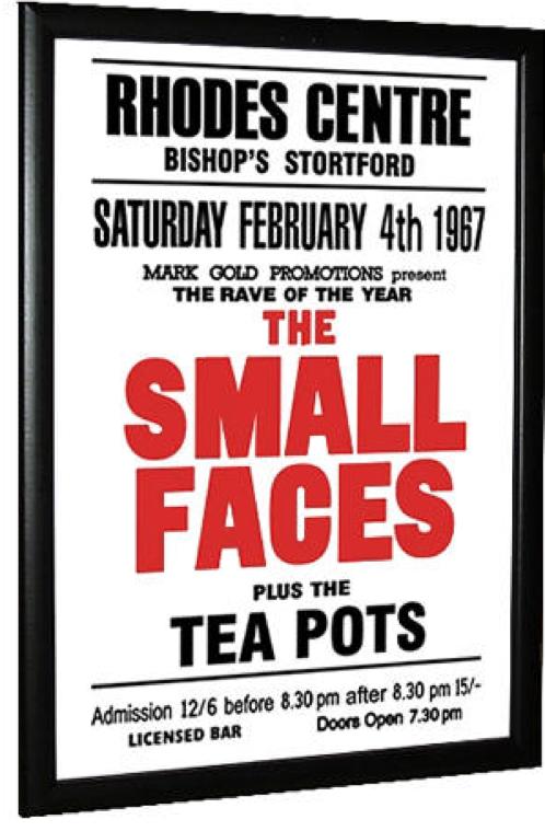 Small Faces Concert Poster - Rhodes Centre 67.02.04