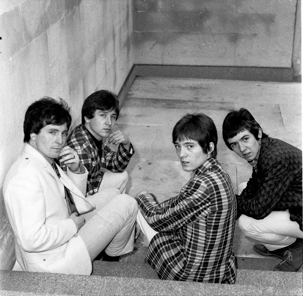 The Small Faces line up, including Jimmy Winston, 1965
