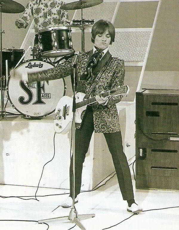 Steve Marriot, on stage with the Small Faces