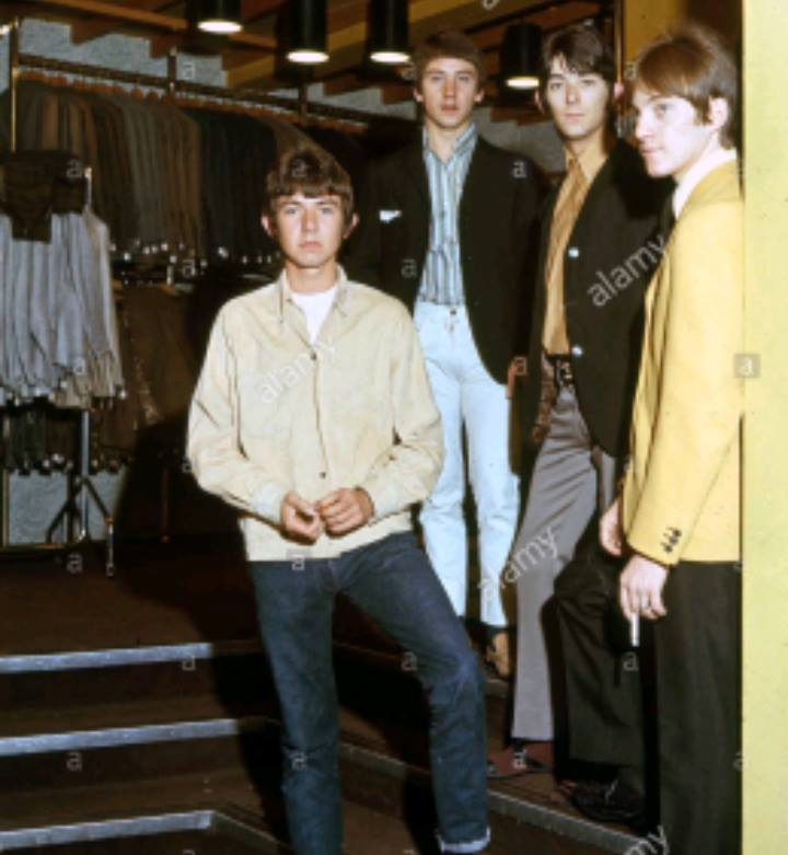 Small Faces clothes shopping group portrait