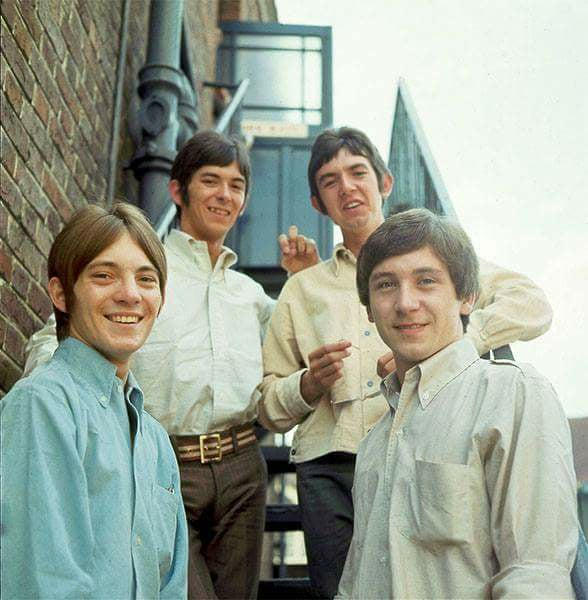 Small Faces staircase group portrait