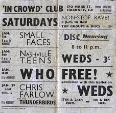 Small Faces Concert Poster - in crowd club 1st January