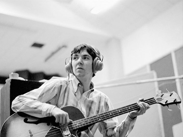 Ronne Lane, in the recording studio