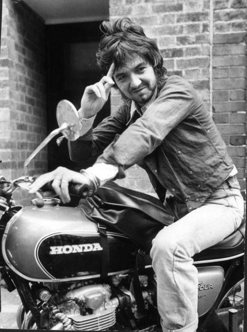 Ronne Lane on Honda motorbike