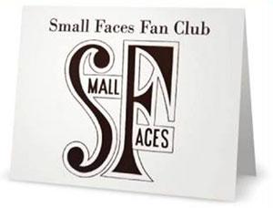Small Faces Fan Club Card