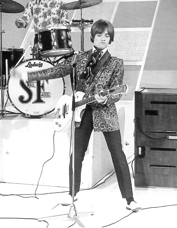 Steve Marriott on stage with the Small Faces