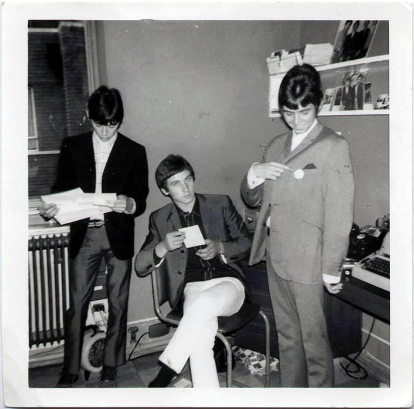 Kenney, Mac & Ronnie in fan club office