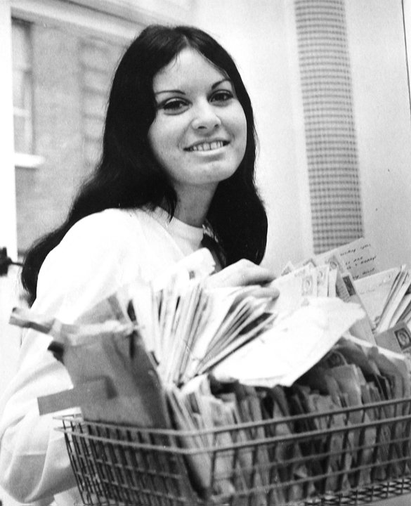 Pauline with more Small Faces fan mail