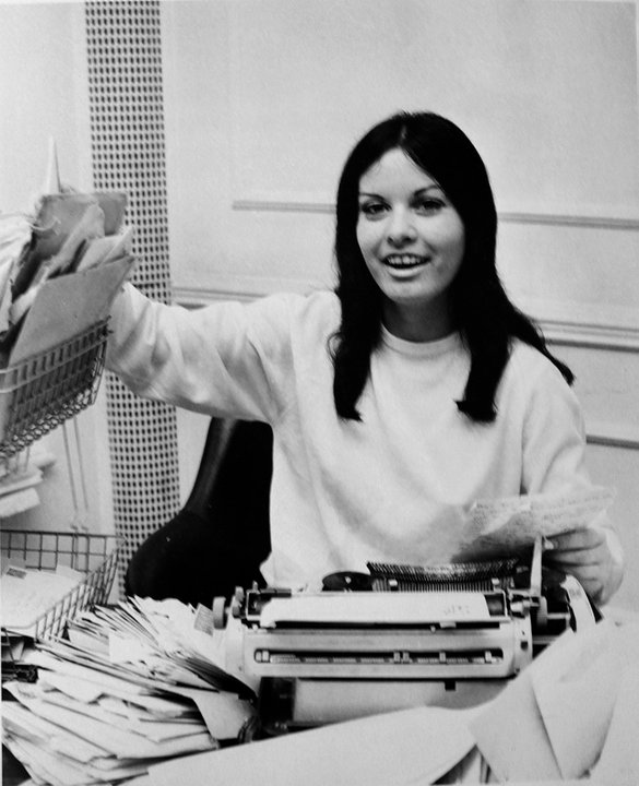 Pauline with fan mail at Small Faces office